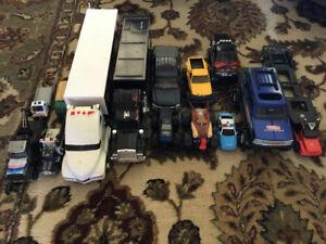 lot of toy trucks