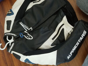 Alpinestars gp pro leather motorcycle jacket with chest inserts