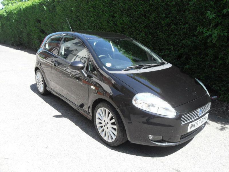 fiat grande punto 1 4 16v sporting black 2007 manual. Black Bedroom Furniture Sets. Home Design Ideas