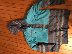 Boys burton coat size large