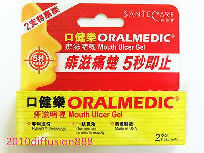 Oralmedic Mouth Ulcer Gel Treatment 2 Treatments Made In Usa
