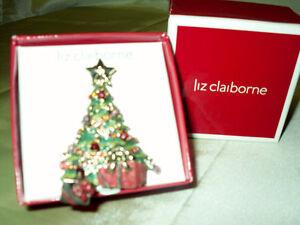 Liz Claiborne Christmas Tree Brooch