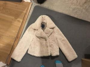 Gap Little girl's fur sweater and black skirt