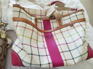 2 Coach bags for sale.  Also two Diaper bags or overnight bags