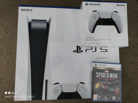 Playstation 5 bundle, extra pad and Spiderman Miles Morales Ultimate