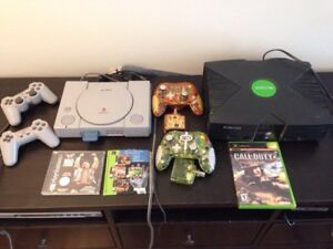 PlayStation & Xbox with Controllers & Games