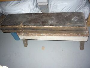 Antique Wallpaper Hangers Folding Table & the tools of the trade