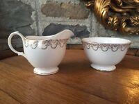 Queen Anne China Milk Jug & Sugar Bowl