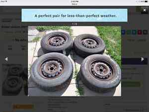 Mud Snow rated 205/70/14  tires