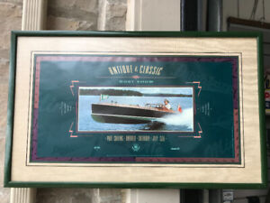 1989 PORT CARLING MUSKOKA ANTIQUE & CLASSIC BOAT SHOW POSTER FRA