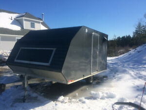 Double enclosed trailer