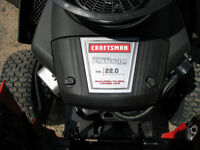 42'' 22 hp Briggs craftsman tractor / new / just reduced / red