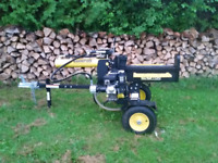 Log splitter and operator for hire