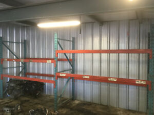 redi rack pallat racking for garage with beams and safety bars