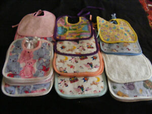 BABY BIBS - COTTON & TERRY -- 5 for $20 -- NO SHIPPING