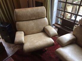 Rare pair of g plan house master Armchairs retro