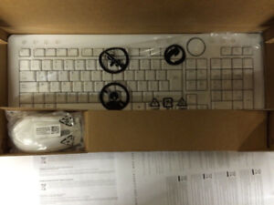 Dell Bluetooth Wireless White Keyboard + Mouse Y853M No RECEIVER