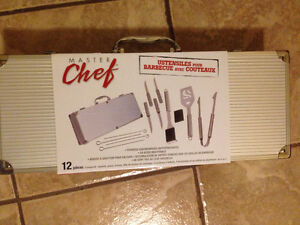 Ustensiles pour barbecue avec couteaux / BBQ tools set with kniv