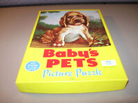 Picture Puzzle Canada Baby's Pets Dog Pig Lamb Kitten Set 4 Box