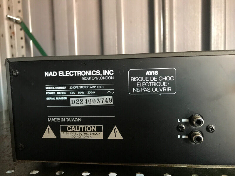 NAD 2240 Stereo Power Amplifier Power Envelope
