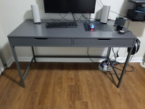 Office desk w/ drawers and cable management
