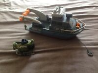 Boat and submarine! And dustman van