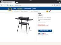 Electric grill/BBQ,used once, ideal for caravan.