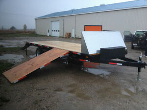 20' Deckover, 5 Ton trailer, dual Ramps,Heavy Snowmobile trailer