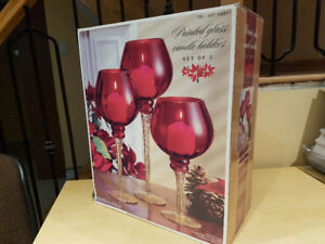 Christmas Candle Holders Set