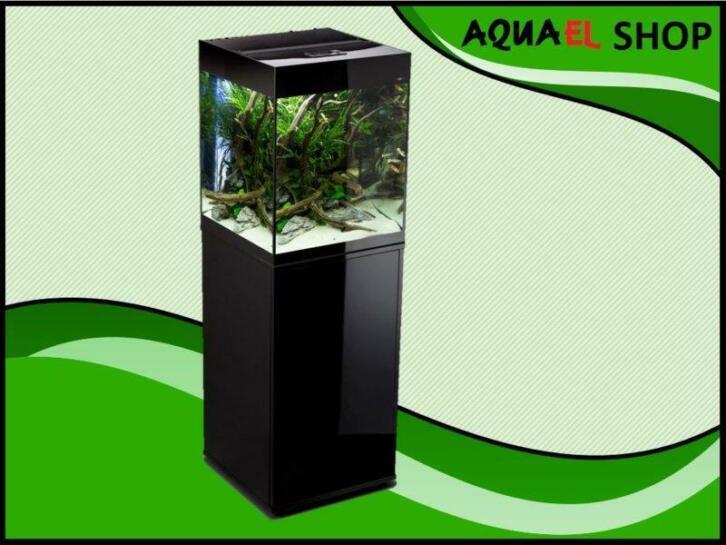 Aquael Glossy 50 zwart aquarium set inclusief glossy meubel
