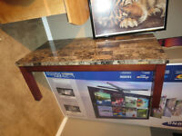 Coffee Table & 1 End Table - Faux Marble Top