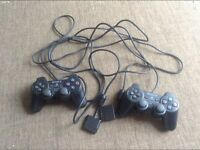Pair of Official PS2 Controllers