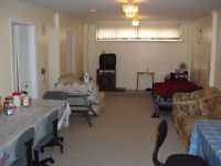 1 BR+ shared Large Living Room (size 23'x13') Basement Apartment