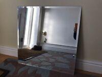 Bevelled edged square mirror 60cm x 60cm