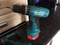 Two makita cordless drills