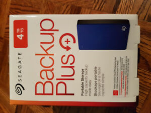 Seagate 4tb back up plus portable storage brand new sealed