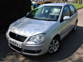 2009 09 VOLKSWAGEN POLO 1.2 MATCH 70PS 5 DOOR GREAT VALUE ONLY 30000 MILES !!