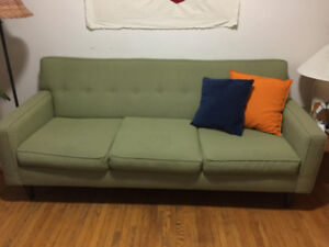 Lovely green 3-seater couch - Vintage 80s look