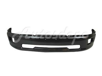 FOR 2009-2012 DODGE RAM 1500 PICKUP FRONT STEEL BUMPER FACE BAR GREY W/FOG HOLE
