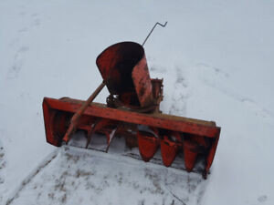 Front Mount Snow Blower, Case Lawn Tractor