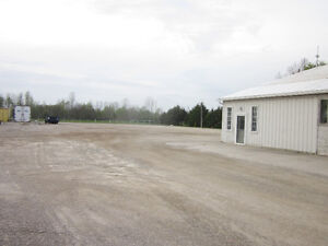 Trucking yard for rent.