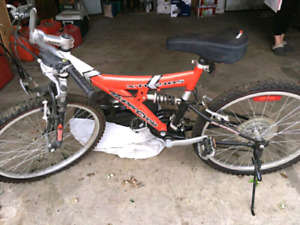 21 SPEED FULL SUSPENSION MOUNTAIN BIKE WITH BELL & STAND! WOW$45