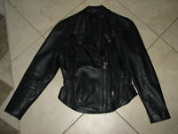 Motorcycle women's leather jacket