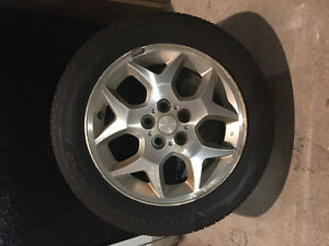 Four Tires on Aluminum Rims P185/60R/15 Kitchener / Waterloo Kitchener Area image 1