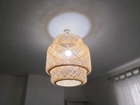 SINNERLIG bamboo pendant lamp from Ikea