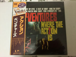 The Ventures LP Japan Stereo Where The Action Is  United Artists