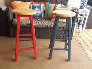 Solid wood stools
