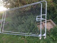 Heras fencing gates
