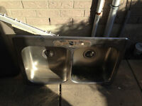 Used kitchen Sink, Faucet & Range Hood.