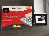 Warmup underfloor heating and touch screen thermostat